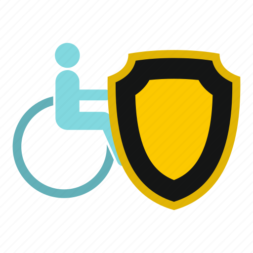 Accessibility, accessible, accident, aid, armchair, assistance, wheelchair and shield icon - Download on Iconfinder