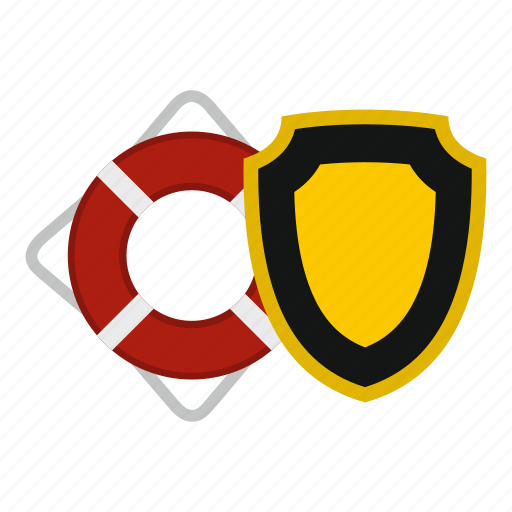 aid, assistance, belt, buoy, circle, danger, lifebuoy and shield icon
