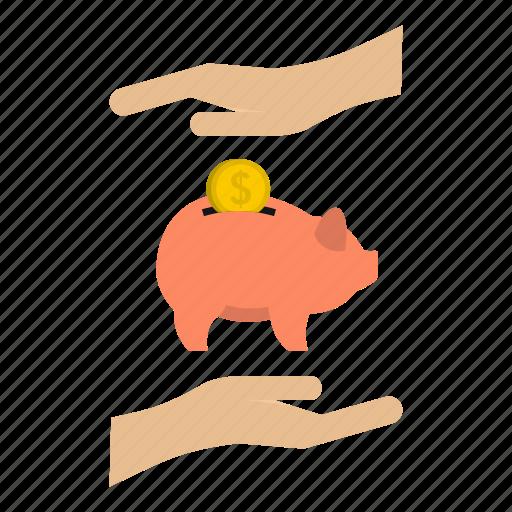bank, banking, coin, money, money box, pig, save icon