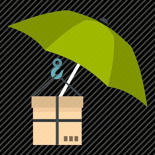 box, cardboard, care, fragile, pack, post, umbrella and box icon