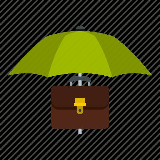 business, clothing, headwear, polygonal, sun, umbrella, umbrella and diplomat icon
