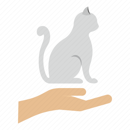 animal, arm, cat, hand, pet, protection, sponsorship icon