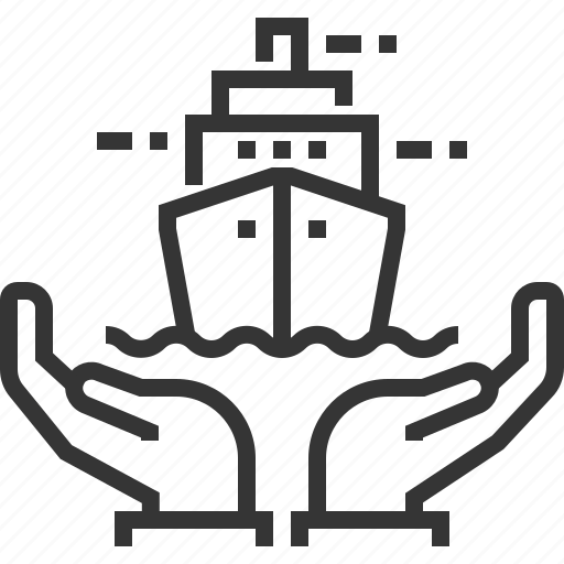 admiralty, assurance, boat, hands, insurance, sea, ship icon