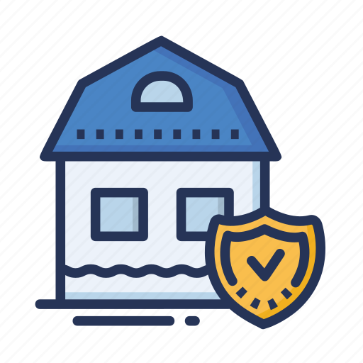 home, house, safe home, secure home icon