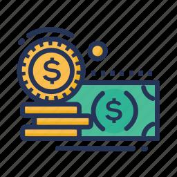 money, pound, rupees icon