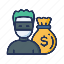 money, money theft, theft icon