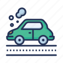 car, car pollution, fog, vehicle icon
