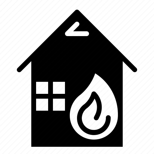 Real, estate, fire, house, safety, property icon