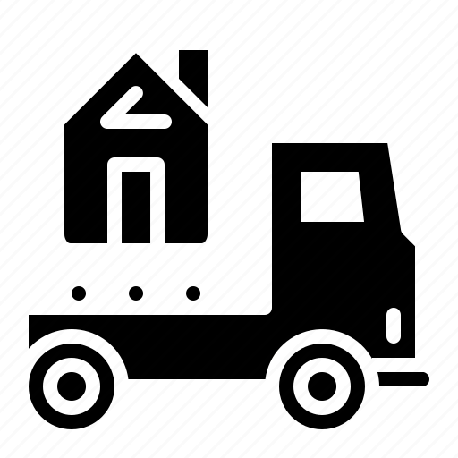 construction, house, tranfer, transport, truck icon