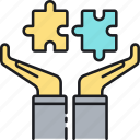 bancassurance, bankassurance, jigsaw, puzzle, puzzle pieces, solution icon