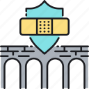 bridge, business interruption insurance, insurance icon