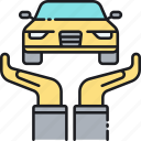 auto insurance, car insurance, collateral, insurance, premium, protection, vehicle insurance icon
