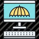 computer, computer insurance, desktop, imac, insurance icon