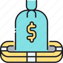 deposit, deposit insurance, finance, financial, insurance, money, savings icon