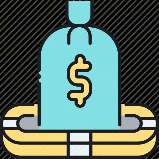 deposit, deposit insurance, finance, financial, insurance, money, savings icon