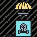 bomb, detonator, dual, dual trigger insurance, insurance, trigger icon