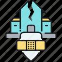 earthquake, earthquake insurance, earthquake protection, insurance icon