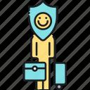 expat, expat insurance, expatriate, foreigner insurance, insurance icon
