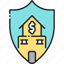 general, general insurance, home, insurance, shield icon