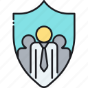 group, group insurance, insurance, people, shield, team icon