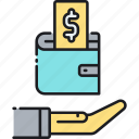 finance, income, income protection insurance, insurance, money, protection, wallet icon