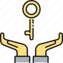 key, key person insurance, safety, security icon