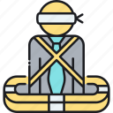 insurance, kidnap, kidnap and ransom insurance, kidnapped, ransom icon