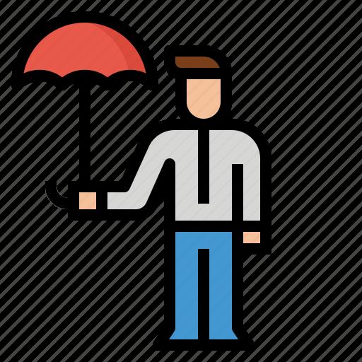 Agent Broker Insurance Sales Umbrella Icon
