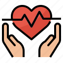 heart, rate, coverage, health, insurance icon