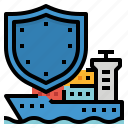 liability, insurance, shipping, coverage, protect icon