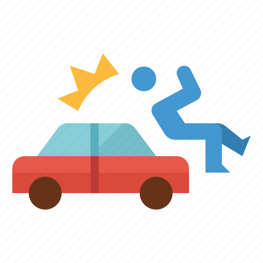 accident, car, hit, injured, insurance icon
