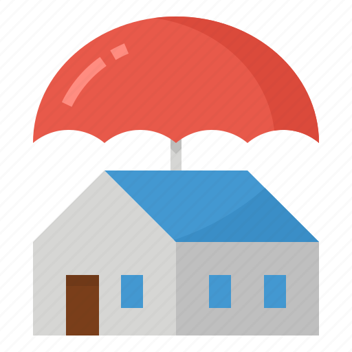 building, coverage, house, insurance, property icon