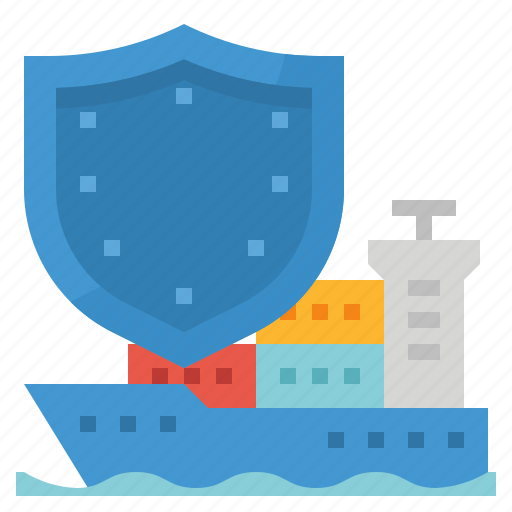 coverage, insurance, liability, protect, shipping icon
