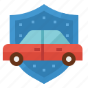coverage, insurance, liability, protection, vehicle icon