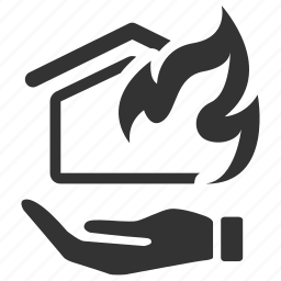 accident, arson, estate, fire, home, house, insurance icon