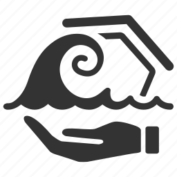 building, disaster, estate, flood, house, insurance icon