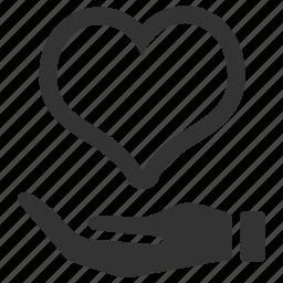 care, health, healthy, heart, insurance, love icon