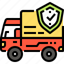 cargo, deliverly, insurance, security, shipping, transport, truck icon