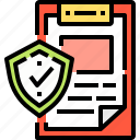 data, document, file, insurance, security icon