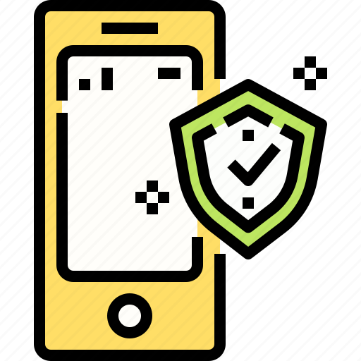 insurance, mobile, protection, security, smartphone icon