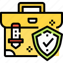 briefcase, business, insurance, security, strategy icon
