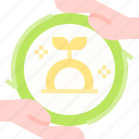 business, coin, finance, hand, invesment, money icon