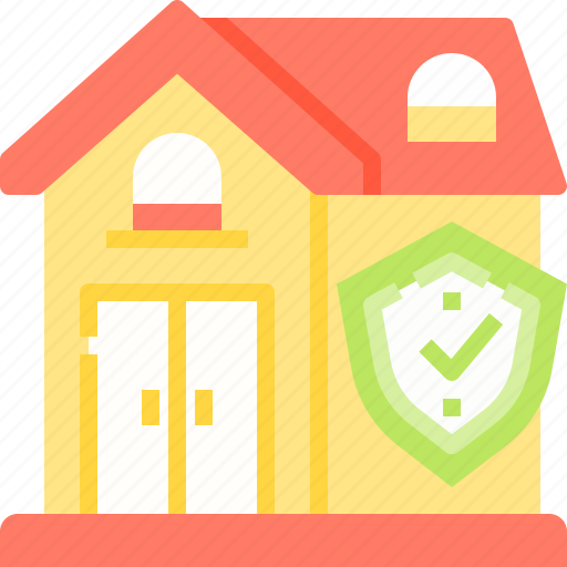 home, house, insurance, resident, security icon