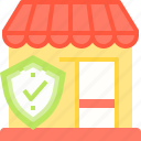 insurance, security, shop, store icon