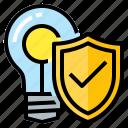 copyright, idea, insurance, intellectual, property icon