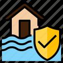 disaster, flood, house, insurance, nature