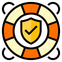float, insurance, protection, secure, security icon
