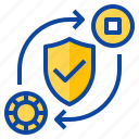 coverage, exchange, insurance, protect, protection icon