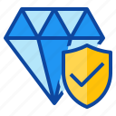 protect, asset, protection, jewelry, insurance icon