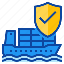 coverage, insurance, protect, protection, shipping, transport icon